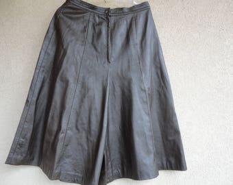 Brown Leather Gauchos
