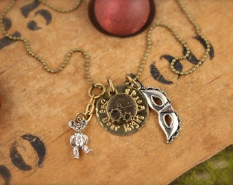 SALE Labyrinth Inspired Right Words Necklace