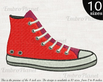 80s Shoes - Designs for Embroidery Machine Digital Graphic Design File  Stitch Instant Download Commercial Use