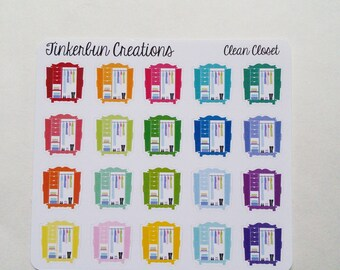 20 Clean Out Closet Stickers