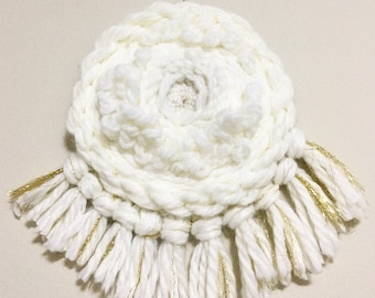 CAMELLIA - handwoven wall hanging