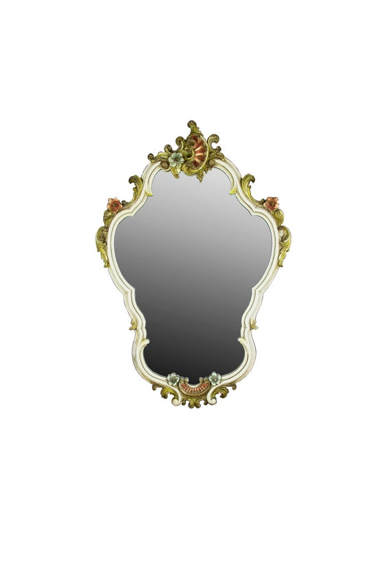Verzierte Wand Spiegel Antik Spiegel Vintage Tapete Spiegel Bad Spiegel  Holz Spiegel Große Wand Spiegel Dekorative Wandspiegel Weiß Spiegel
