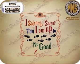 Harry Potter Quotes (I Solemnly Swear...) embroidery design. Harry Potter Machine Embroidery Design. Instant download. #002-11