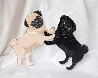 Pug Paper Dolls - Set of 2