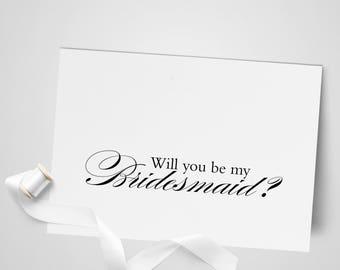 Will you be my Bridesmaid Card | Bridal Party Card