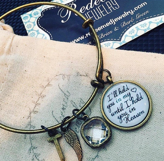 Hold You In My Heart Bangle Bracelet