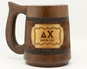 Delta Chi fraternity mug DX Fraternity gifts Fraternity items College university Greek life college Frat letters