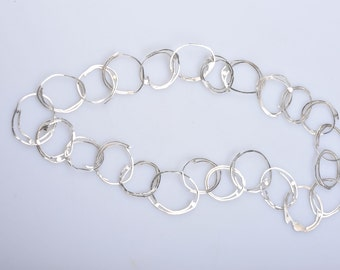 Handforged silver chain