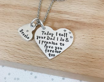 step daughter, step daughter wedding necklace, jewellery, necklace wedding, step daughter wedding gift, step daughter gift, I love you too