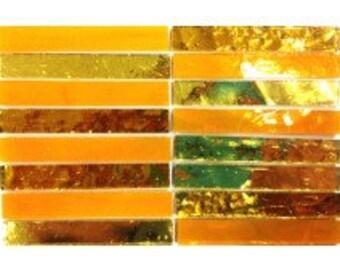 Mirror Strips - Golden Yellow - 15 tiles