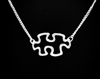 Hollow Autism Awareness Puzzle Piece Special Needs Gift Necklace
