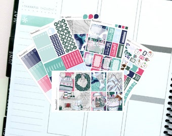 """Pyjamas/Winter/Homely """"Sunday Snuggles""""  Themed Planner Stickers for Erin Condren, Kikki K, Filofax, Happy Planner, Websters Pages"""