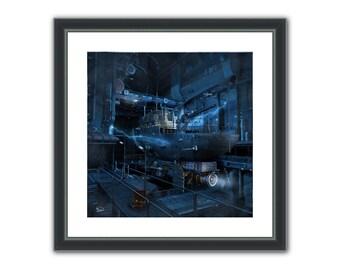 It's an open and shut case - Surreal Conceptual Fantasy Sci-Fi 3D Digital Poster, or Fine Art Print