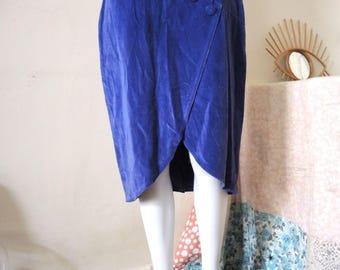SALE** Vintage velvet high waist skirt 1980s 80s **SALE