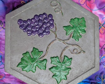 Grape Leaf Motif Stepping Stone-Free Shipping