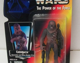1995 Star Wars POTF Chewbacca The Wookie  Power Of The Force New On Sealed Orange Card Vintage Action Figure