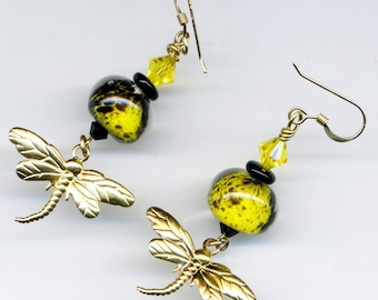 """Earrings 14KT gold plated """"attracted the Sun"""" - will"""