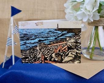 Tanybwlch Beach, Aberystwyth Greeting Card