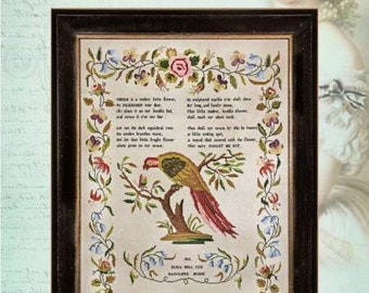 NEW!  HANDS ACROSS the SeA Eliza Bell Cox 1832 counted cross stitch embroidery patterns at thecottageneedle.com 2018 Nashville Market