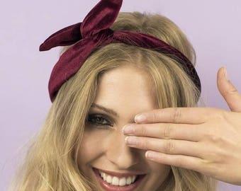 Velvet Wired Headscarf