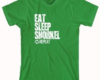 Eat Sleep Snorkel Repeat Shirt - beach, water sports, scuba, vacation - ID: 846