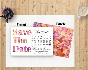 Watercolour Save the date. Multicolour save the date. Wedding save the date.