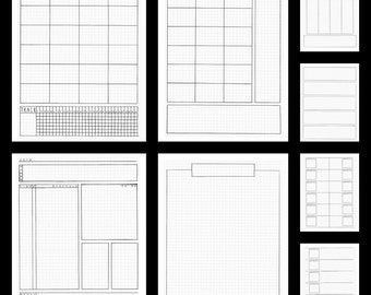 Bullet Journal Template - Printable Bullet Journal Pages, Letter Size