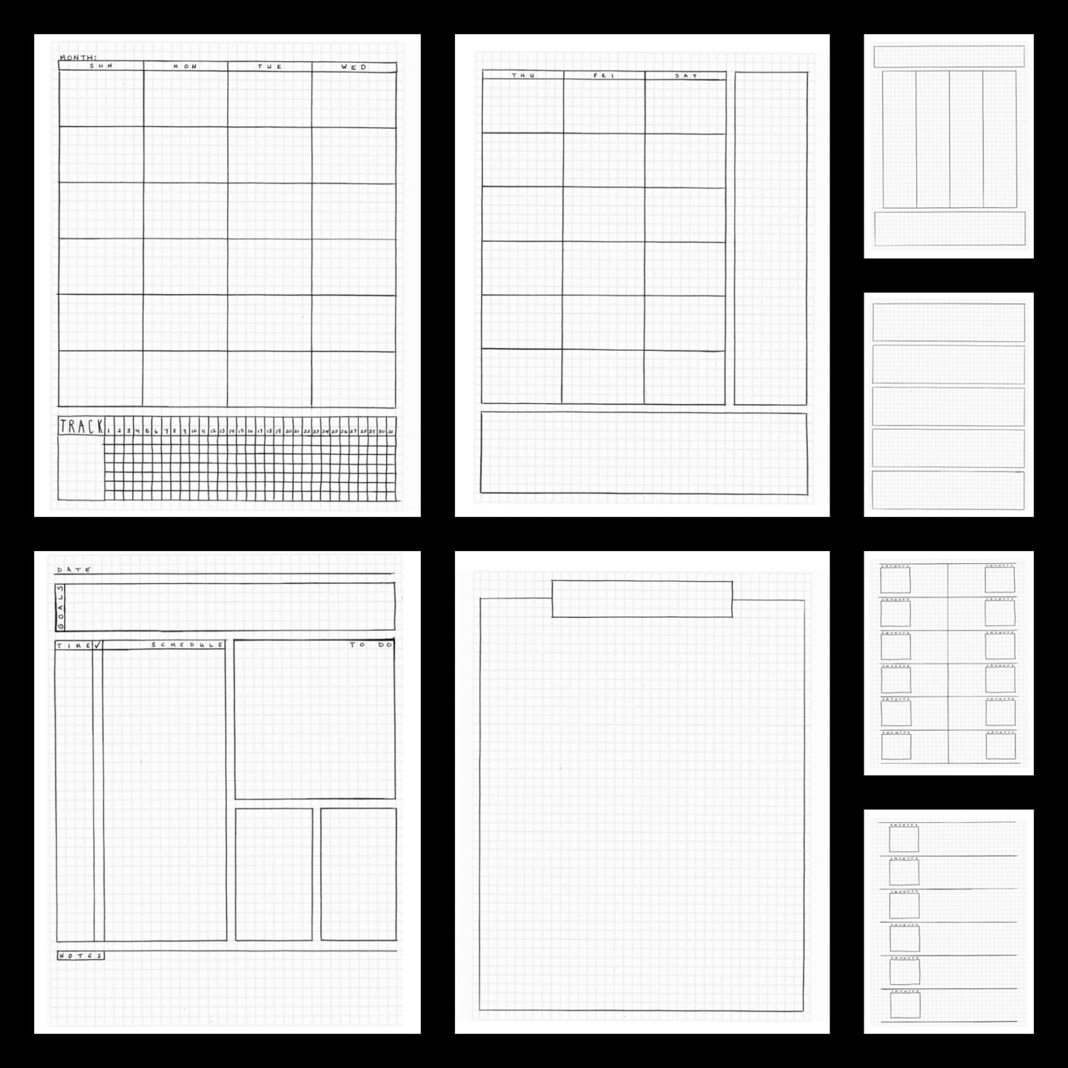 Bullet Journal Template Printable Bullet Journal Pages
