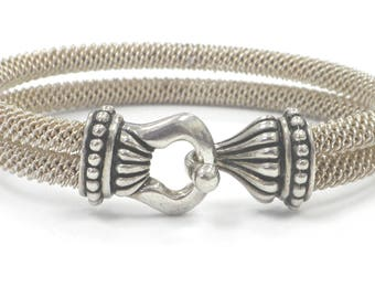 Women's 39.5 Grams Sterling Silver Mesh Bracelet One and One Third of an Ounce