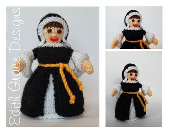 Doll Knitting Pattern - Tudor Queen - Knit Doll - Toy Knitting Pattern - Catherine of Aragon - King Henry VIII - Doll Pattern