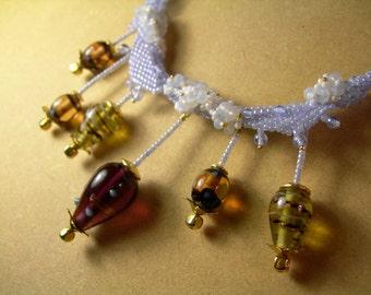 Elegant Balloonflower Necklace