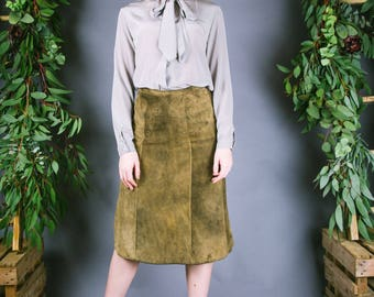 1960s Suede Skirt
