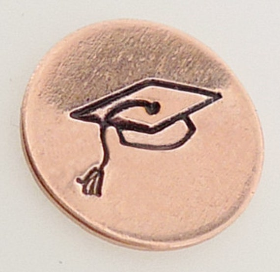 5mm Graduation Cap Metal Design Stamp Metal Jewelry Stamping