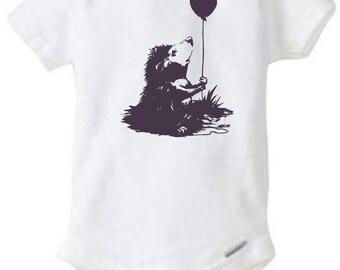 Hedgehog Onesie with Balloon (Very Cute!)