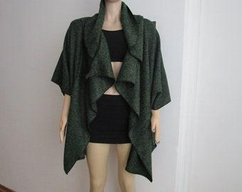 Wool jacket Women, Jackets for Women, Shawl Collar Jacket, Loose Wool Green Coat, Womens Clothing Coat Cardigan, Winter Coat, Spring Jacket