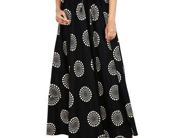 Smart Stylish cotton printed black skirt