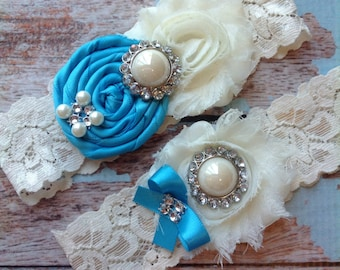 Wedding Garter, Bridal Garter , Lace Garter , Wedding Garter Set, Garter, Something Blue, Vintage Garter, Rhinestone Garter , Toss Garter