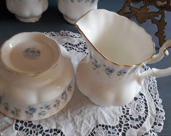 """Royal Albert """" memory lane"""" sugar bowl and creamer / milk jug/ royal albert memory lane sugar bowl and creamer"""