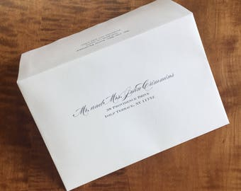 Affordable Digital Calligraphy, Guest Address, outer envelope addressing, envelope addressing, printed invitations