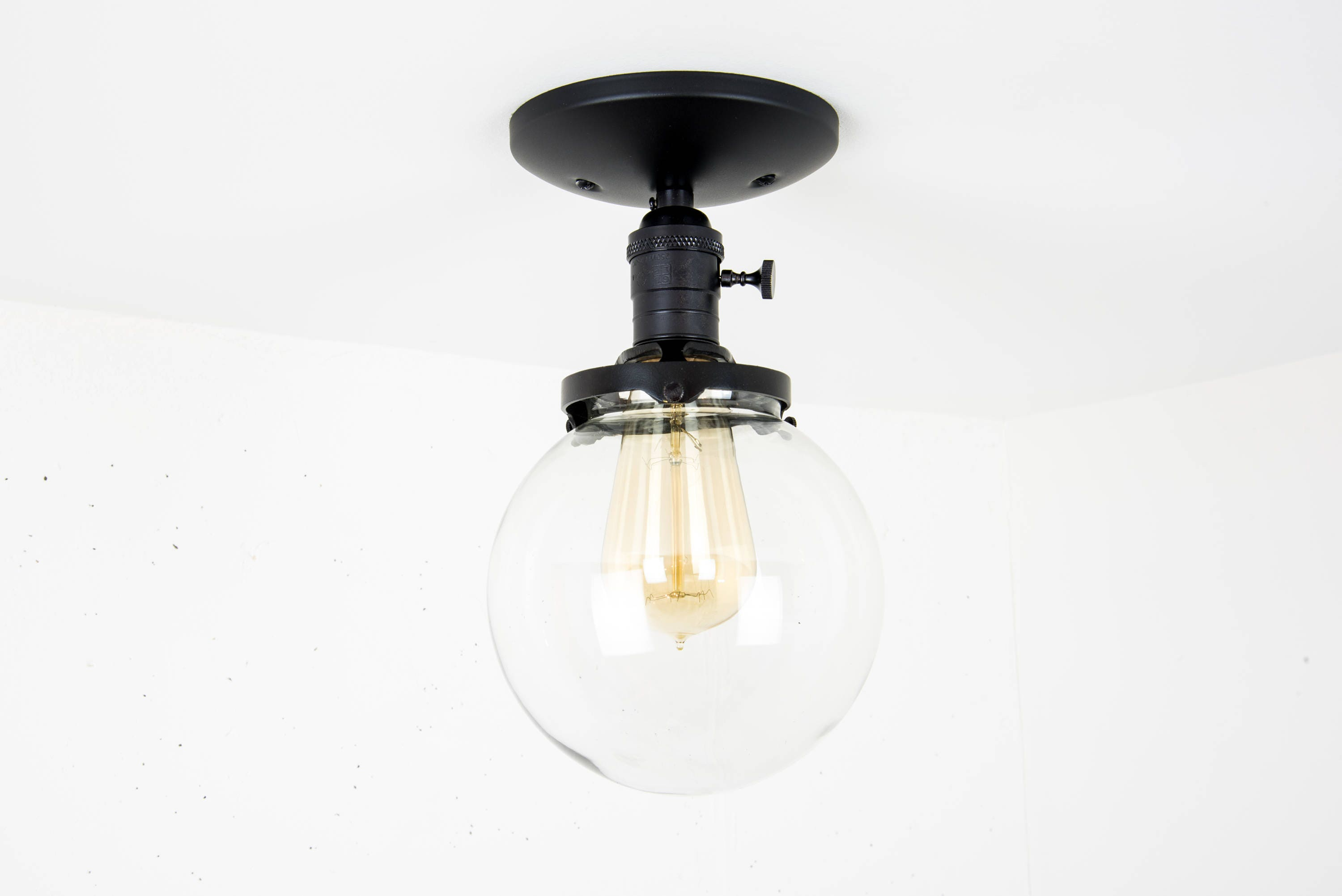 Globe ceiling light black light fixture ceiling mounted flush globe ceiling light black light fixture ceiling mounted flush mount glass globe light modern ceiling light semi flush mount lamp aloadofball Image collections