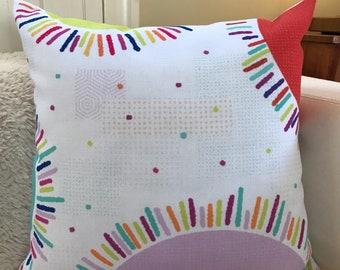 """18x18 decorative pillow """"Color Burst"""""""
