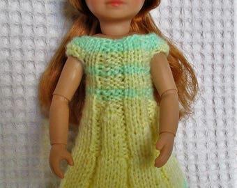 Käthe Kruse Kruselings doll, yellow and green striped dress