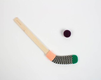 Mini Hockey Stick - green and pink