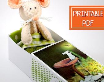 Plush Pattern | Travel Toy Mouse Sewing Pattern | Soft Toy PDF, Softie Pattern, Matchbox Doll Toy Pattern, Stuffed Animal Sewing Pattern