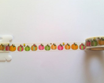 Pumpkin Chevron Washi Tape // Sample // Item #WT071