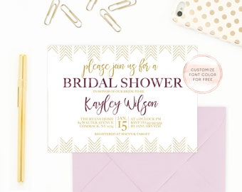 Bridal Shower Invitation, Bridal Shower Invite, Vintage Bridal Shower Invitation, Boho Bridal Shower Invitation, Boho Bridal Shower [441]