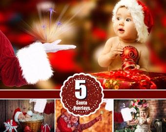 Santa Hand, Photoshop overlay, Christmas holiday overlay, Santa with gift, real Santa, snow overlay, fairy dreamy fantasy overlays, png file
