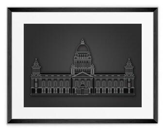 Belfast Town Hall Print