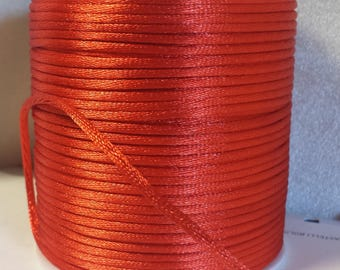 Red mouse tail (approx. 100 mt) Cordon satin et brillant