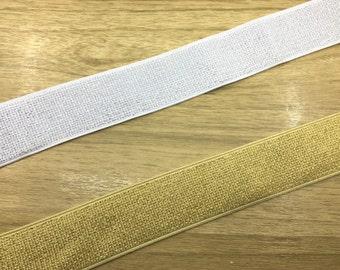 "1.5"" 38mm Wide Gold and Silver Long Glitter Thread Elastic Band by the Yard, Metallic Elastic , Waistband Elastic,Sewing Elsastic"